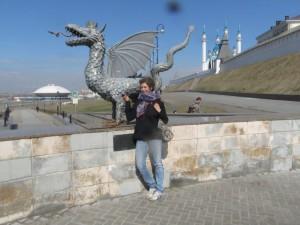 Kuscheln mit dem Kazaner Drachen