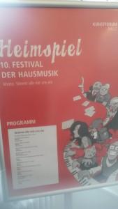 Moderation des 10. Festivals der Hausmusik im Kunstforum Halle - November